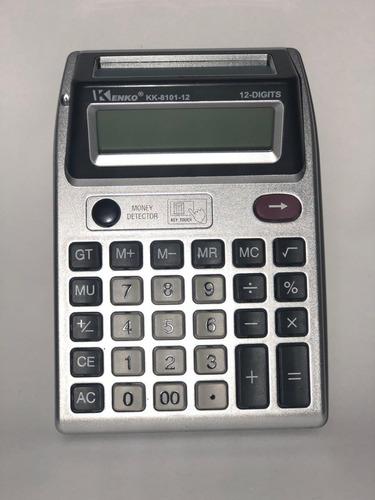 kit 2 calculadora kk8101 14x10cm2 lcd 12 dígitos testa nota