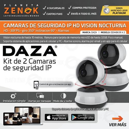 kit 2 camaras de seguridad ip hd motor wifi vision nocturna