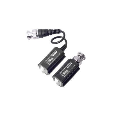 kit 2 camaras epcom bala 720p, transeptores, conectores cctv