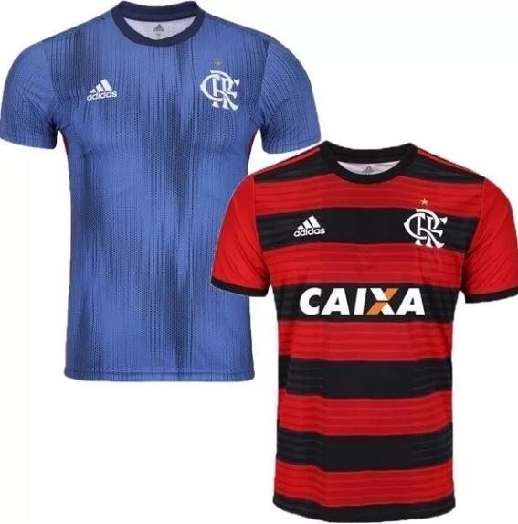 Kit 2 Camisa Camiseta Blusa Flamengo 2018 Super Barata Linda - R ... d25b74bb5f650