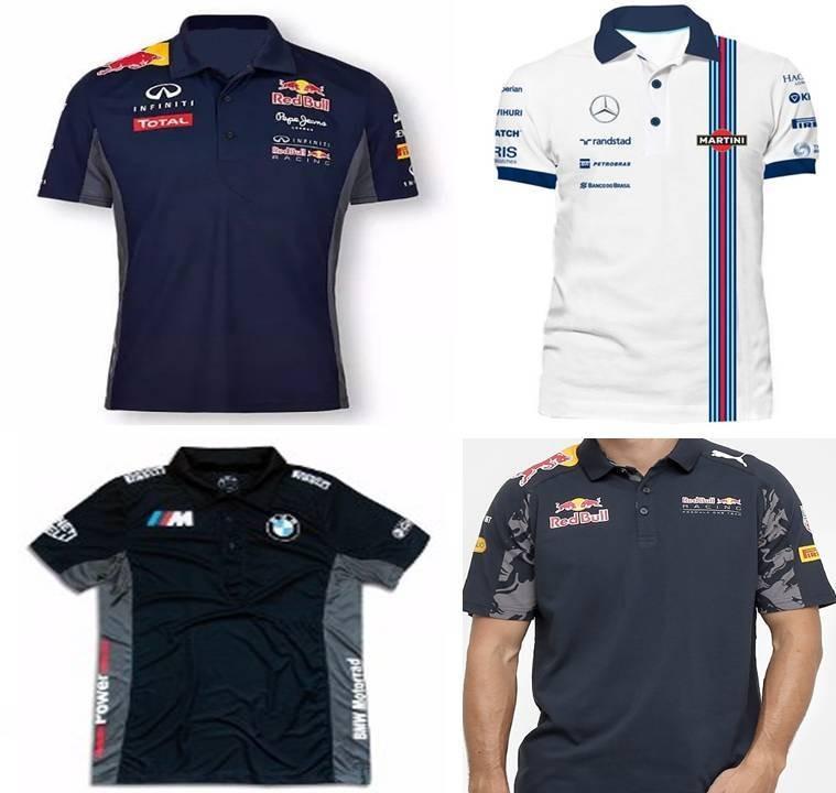 Kit 2 Camisa Camiseta Bmw Red Bull Repsol Mercedes F1 - R  109 45338e11cb7
