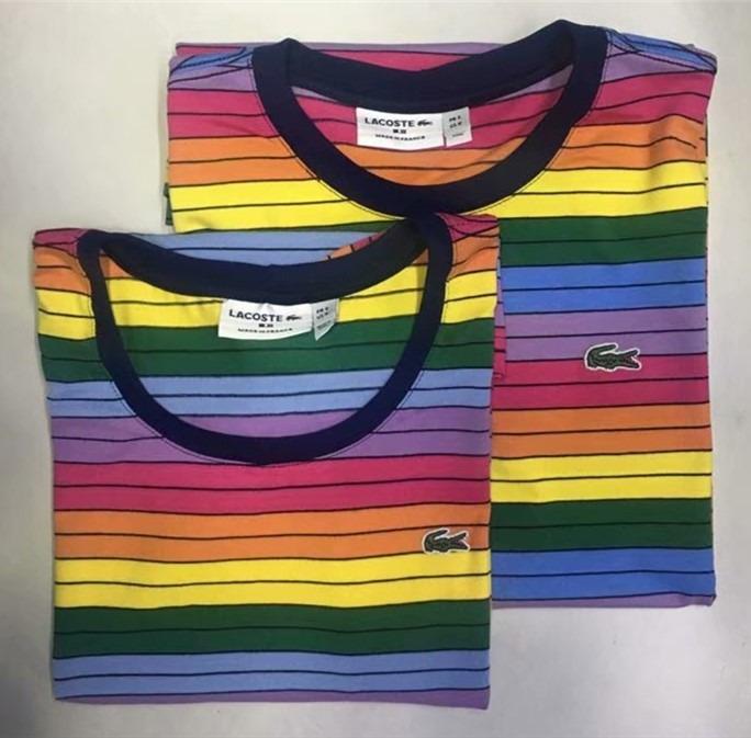 a7d07d1da7c Kit 2 Camisa Camiseta Lacoste Arco Iris Nova Estoque     ! - R  179 ...