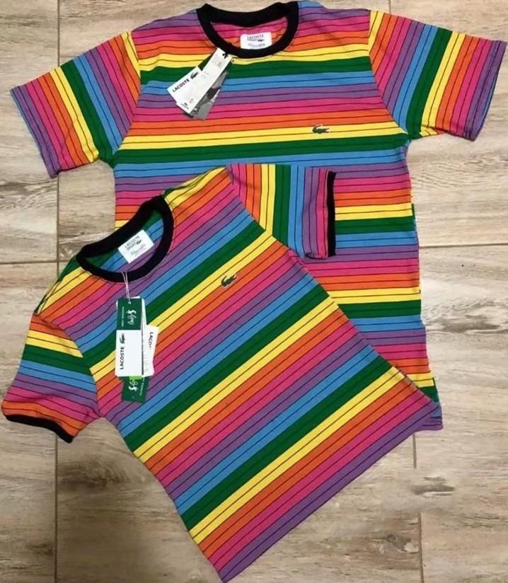 176564ab894 Kit 2 Camisa Camiseta Lacoste Arco Iris Nova Estoque     ! - R  179 ...