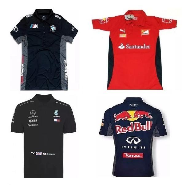 d7a833dc2503b Kit 2 Camisa Polo Formula 1 F1 Mercedes Red Bull Bmw - R$ 119,90 em ...