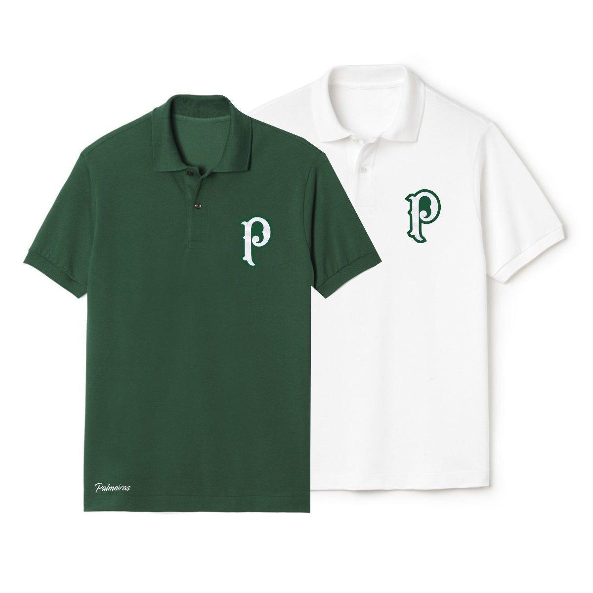 9e7b361058 kit 2 camisa polo palmeiras bordado torcedor personalizado. Carregando zoom.