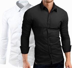 16977acb05 Camisa Social Preta Lisa Slim Tamanho G Masculino Sao Paulo - Camisa Formal  Longa Liso com o Melhores Preços no Mercado Livre Brasil