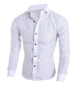 b448ba20ae Kit 2 Camisa Social Slim Fit - Tecido 4% Lycra Qualidade Top