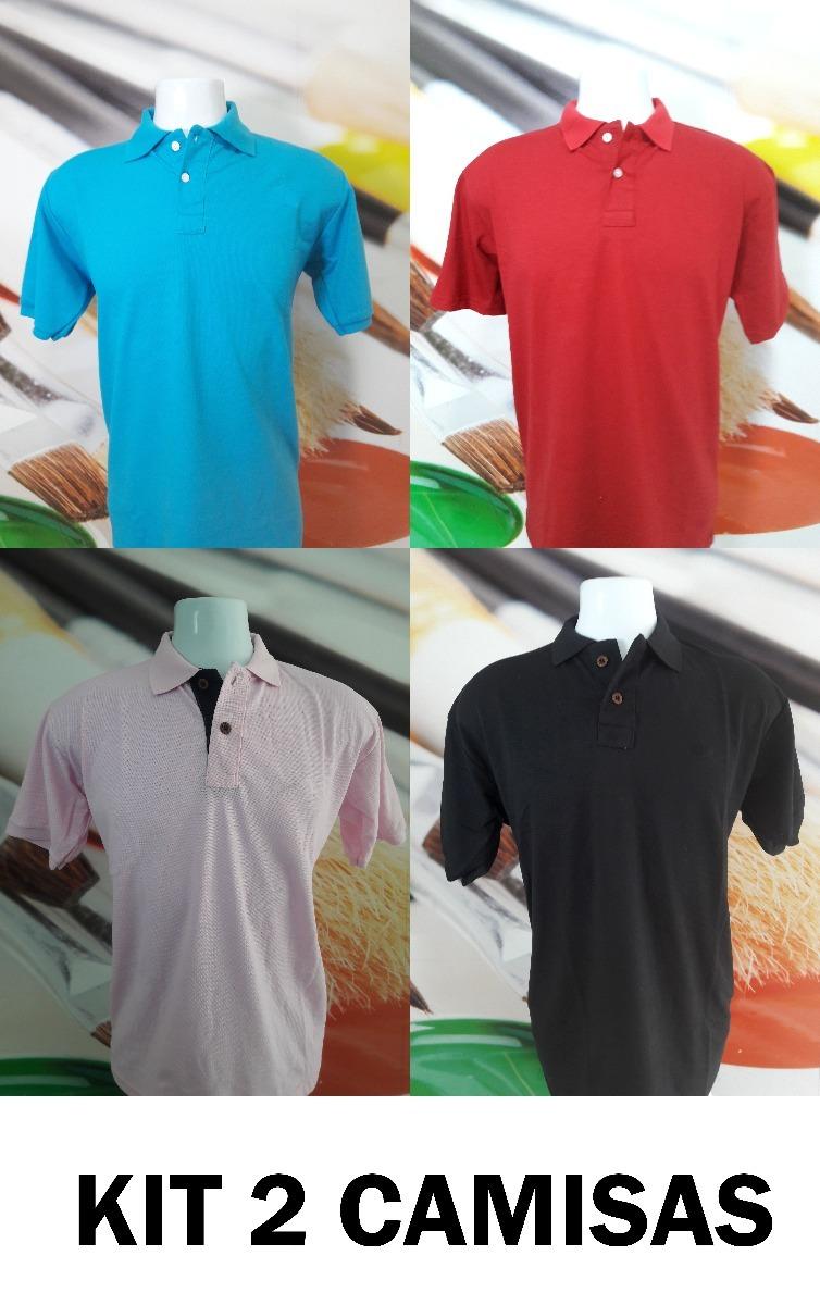 08605ccdda ... kit 2 camisas (camiseta) polo super barato todas as marcas. Carregando  zoom.