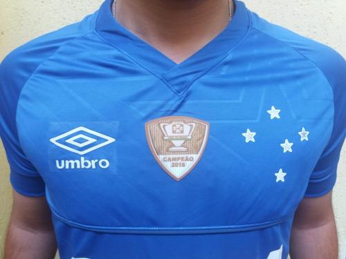 kit 2 camisas cruzeiro umbro unif 1  frete gratis patch 2018
