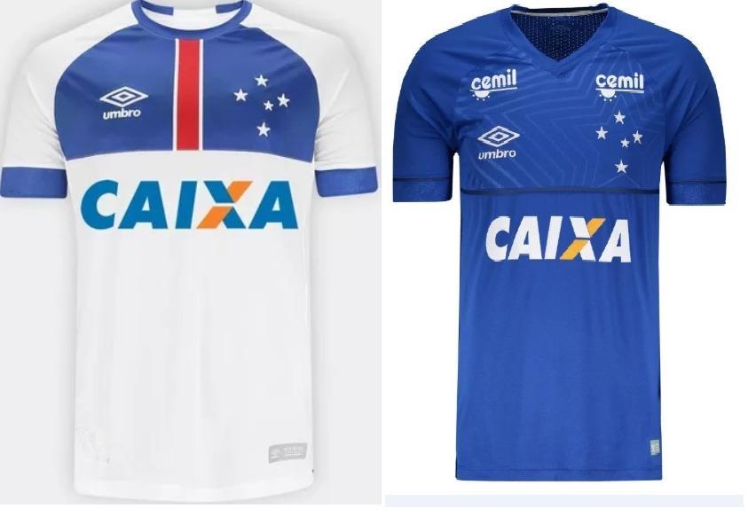 71ff5ccdc3 Kit 2 Camisas Cruzeiro Umbro Unif 1 Frete Gratis Patch 2018 - R  149 ...