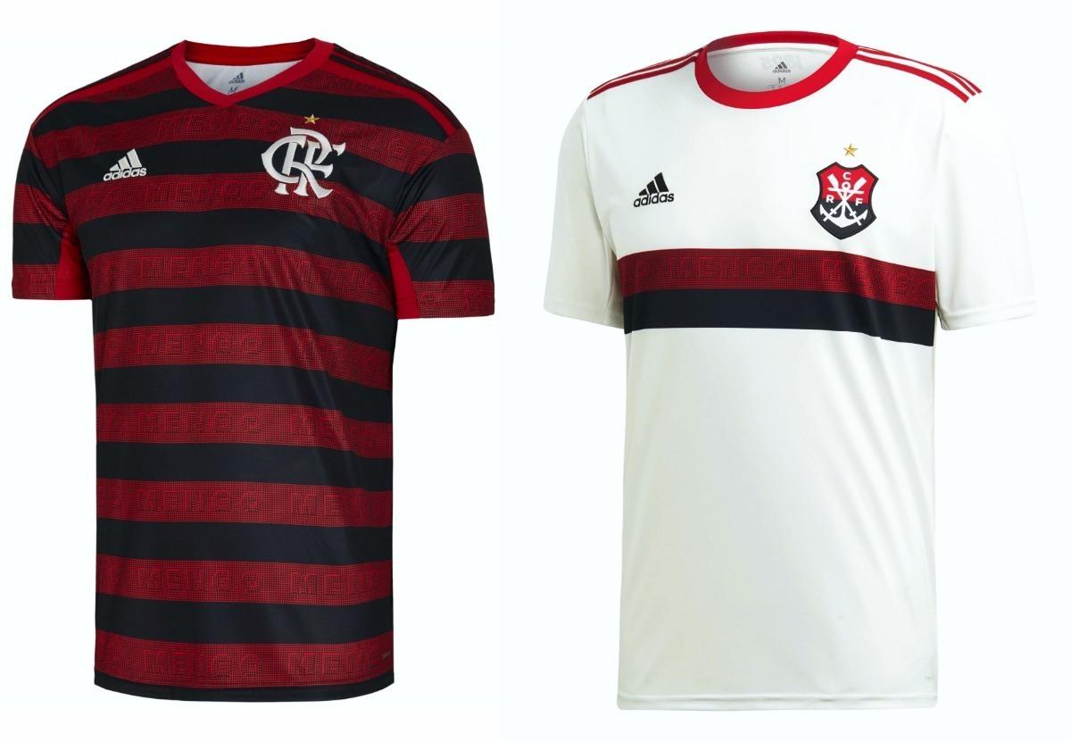 2460dac22768f Kit 2 Camisas Flamengo 2019/2020 - Personalizada Nome E Nº - R$ 179 ...