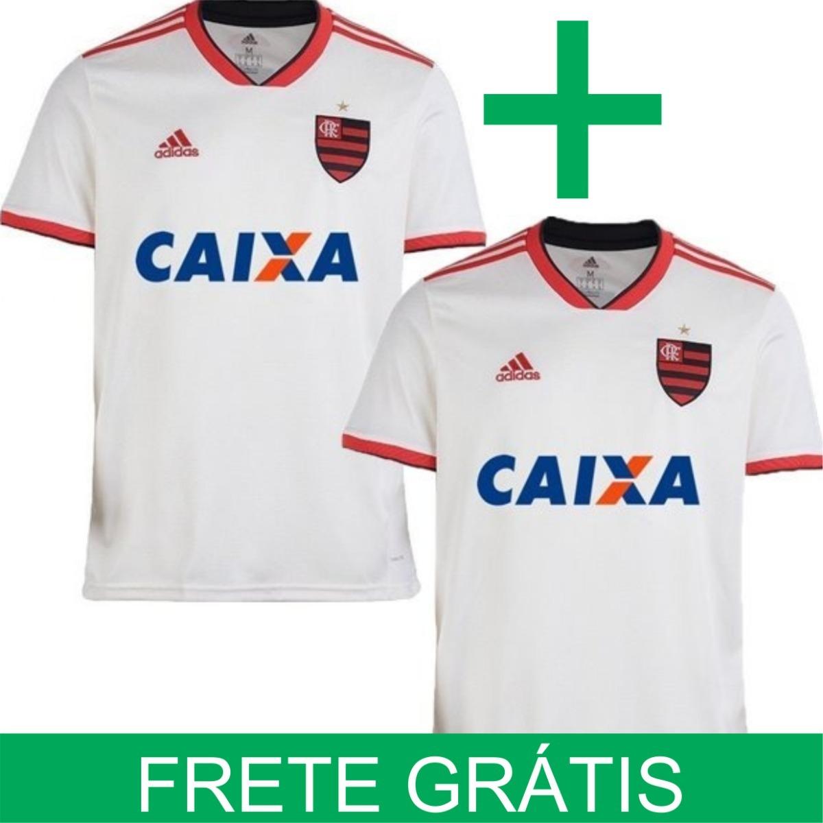 16b798e10c Kit 2 Camisas Flamengo adidas 2018 - Frete Grátis Cor Branco - R ...