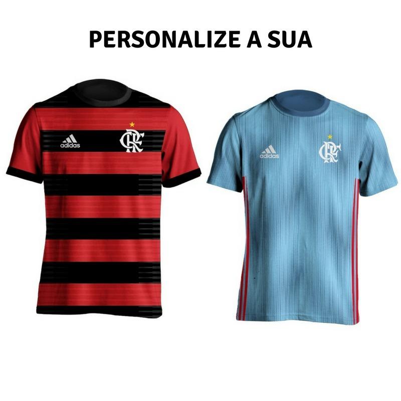537a621e82037 Vender um igual. kit 2 camisas flamengo azul 2018 personalizada nome e  numero. Carregando zoom.
