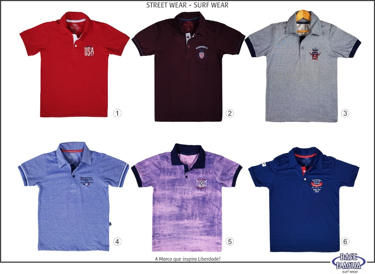 Kit 2 Camisas Gola Polo Infantil Piquet Camiseta - R  64 4c218deaffc12