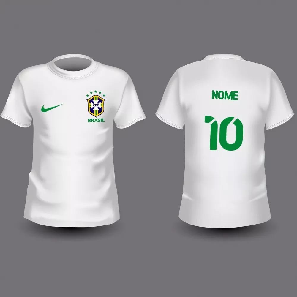 d0bab936d kit 2 camisas infantil personalizada do brasil 2 a 12 anos. Carregando zoom.