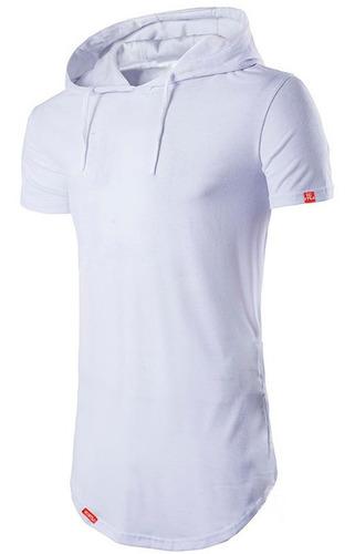 kit 2 camisas longline oversized com capuz swag básica c32