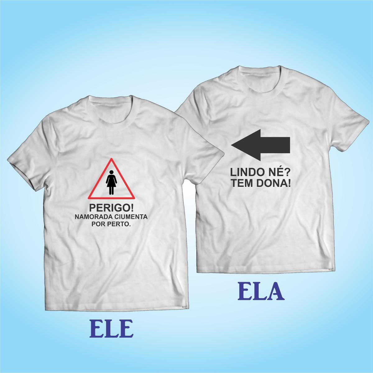 d6dc5c72e kit 2 camisas namorados - casal - paquera - amor - modelo 1. Carregando  zoom.