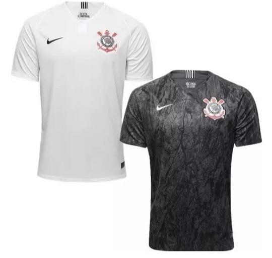 Kit 2 Camisas Novas Corinthians Timão Modelo 2018 - Promoção - R ... 7d617fc448b16