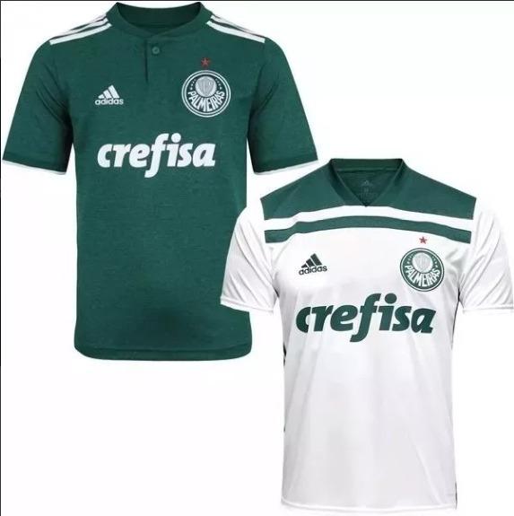 22651d2b02 Kit 2 Camisas Palmeiras 2018-2019 Promoção Sem Frete Barata - R  120 ...