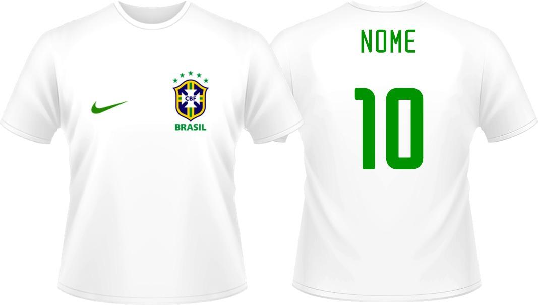 kit 2 camisas personalizada brasil infantil copa do mundo. Carregando zoom. 5929e73e94f57