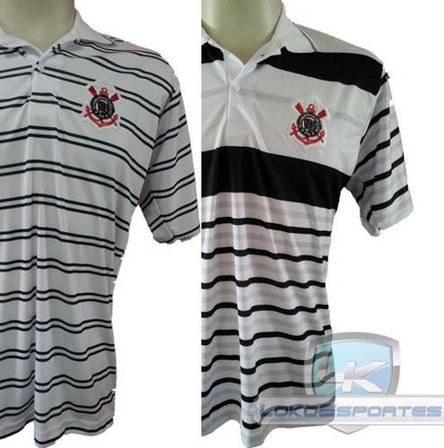 kit 2 camisas pólo corinthians masculina - frete grátis