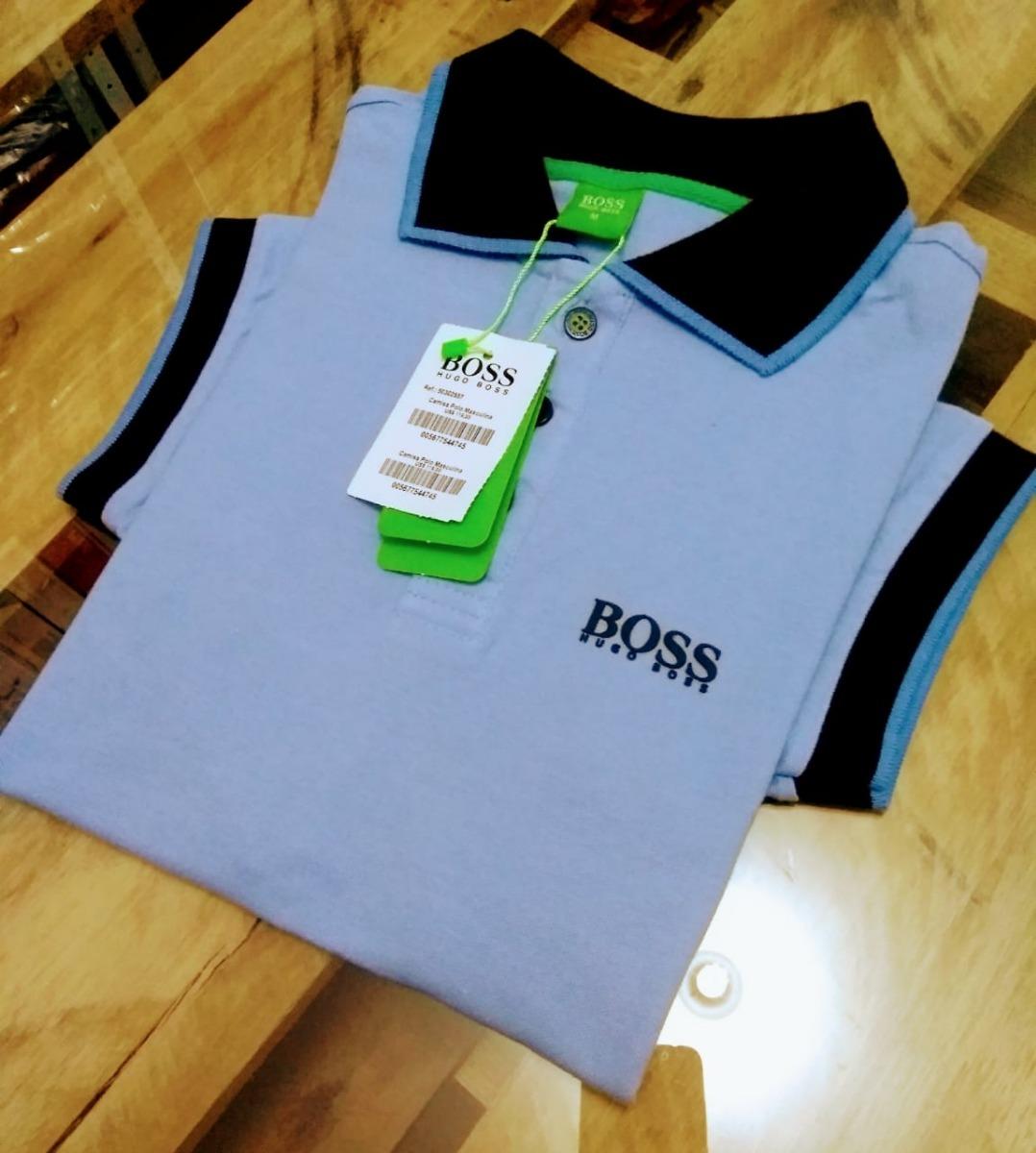 Kit 2 Camisas Polo Masculina Hugo Boss Emborrachada Promoção - R ... 1d3f8cfc0af6d