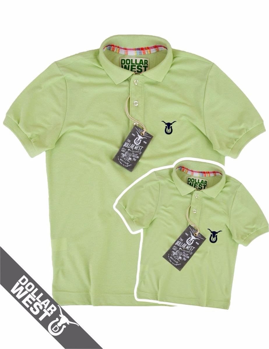 Kit 2 Camisas Polo Pai E Filho Moda Country Original + Cores - R ... 8efaf145936