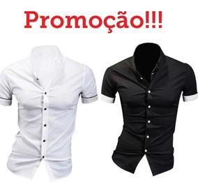 1f78fb25b80f42 Kit 2 Camisas Social Masculina Slim Fit Atacado / Varejo