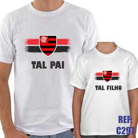 3abc32c2858968 Kit 2 Camisas Tal Pai Tal Filho Flamengo Futebol Esporte