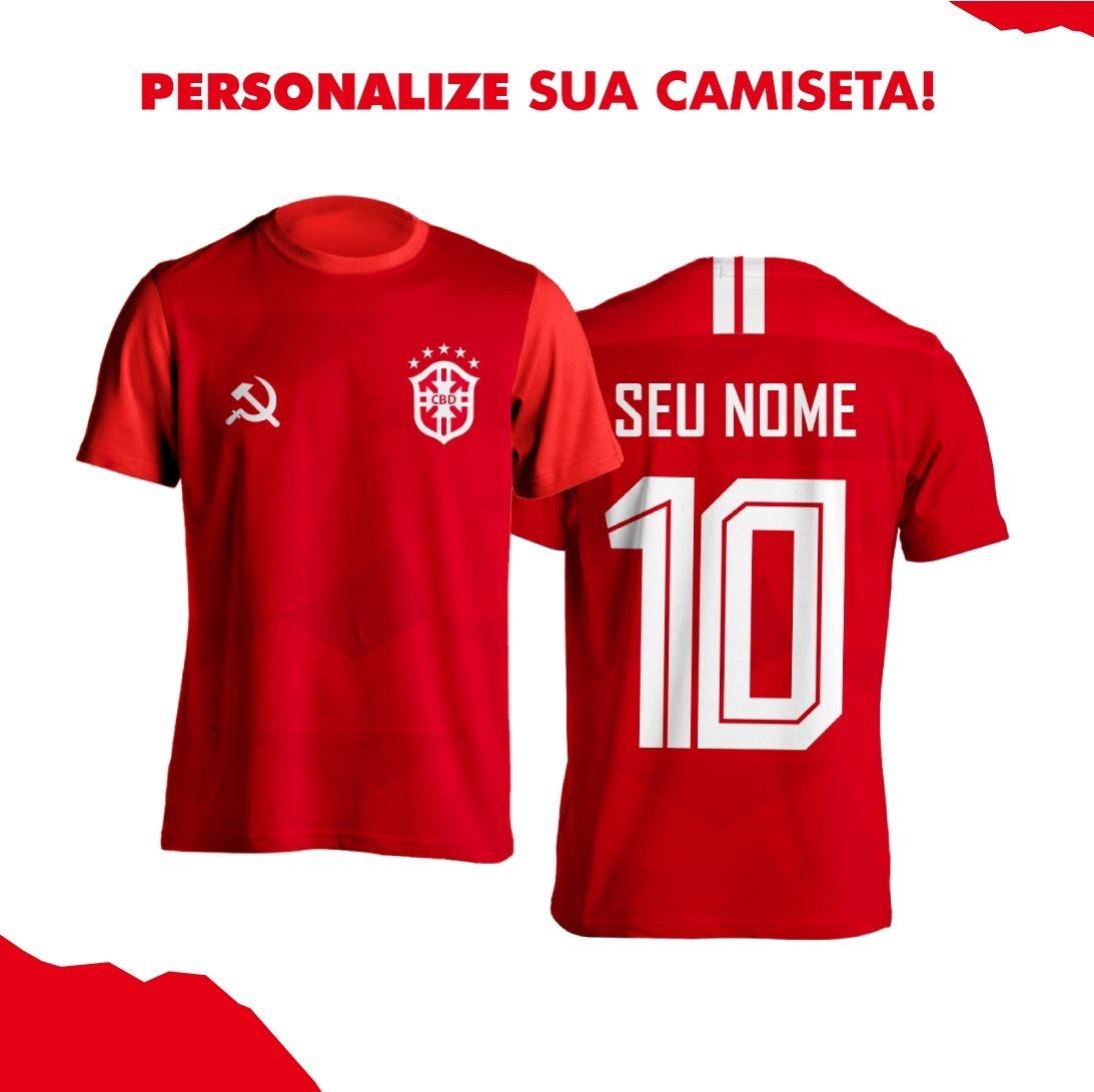 b01f004de9 Kit 2 Camisas Vermelhas Comunistas Feminina Seleção - R  90