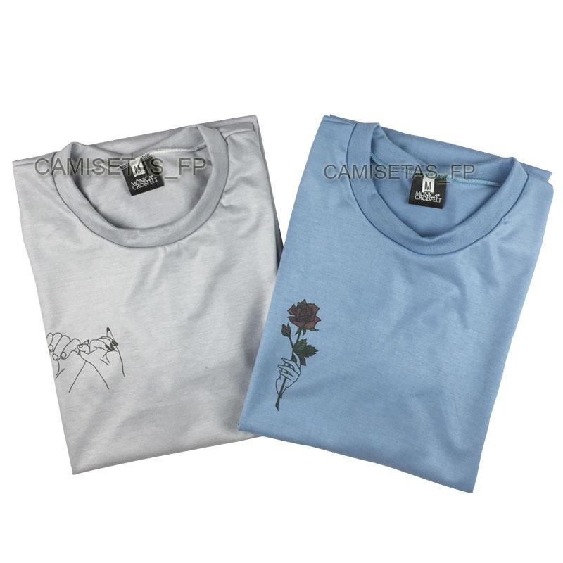 kit 2 camiseta básica estilosa tumblr alternativa swag moda. Carregando zoom . 285f18ddfe1f2