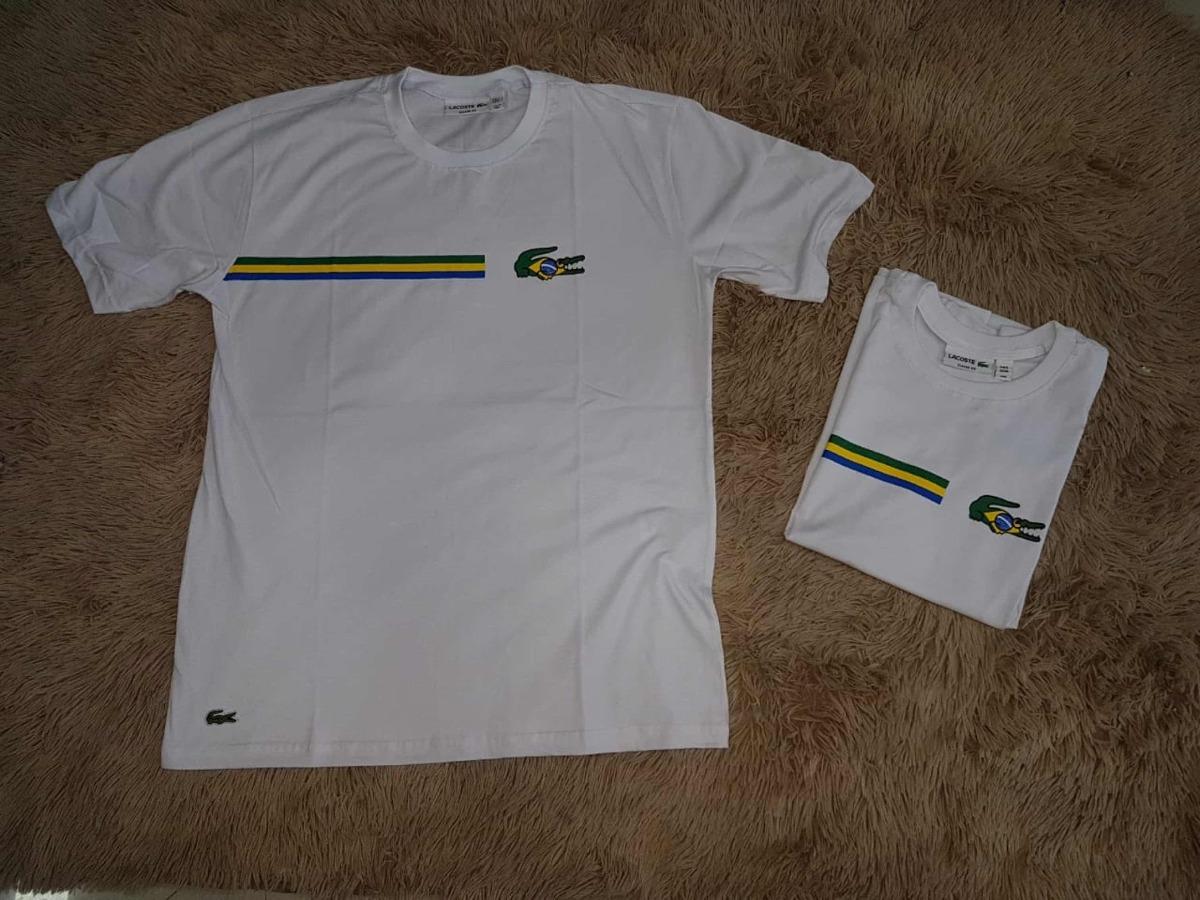 5e85e3f0d59ce Kit 2 Camiseta Camisa Lacoste Casal - R  170