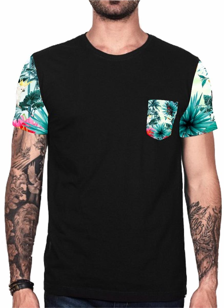 25f756f80 kit 2 camiseta florida blusa floral masculina super oferta. Carregando zoom.