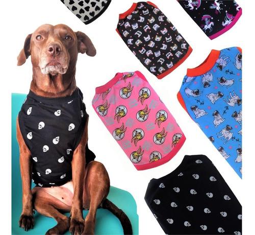 kit 2 camiseta pet verão cães  até 10 kg tam p m g