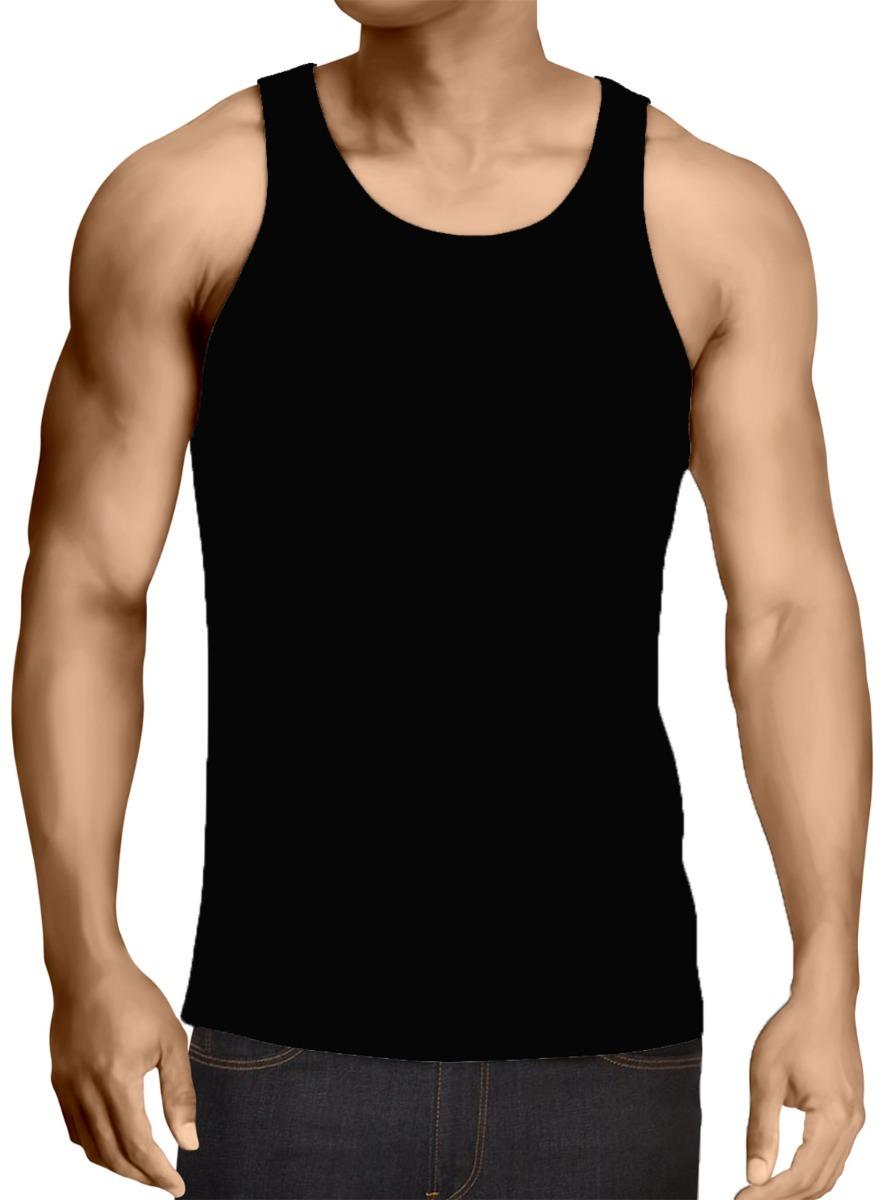 ce5cef36c8672 kit 2 camiseta regata masculina branca preta 100%algodão top. Carregando  zoom.