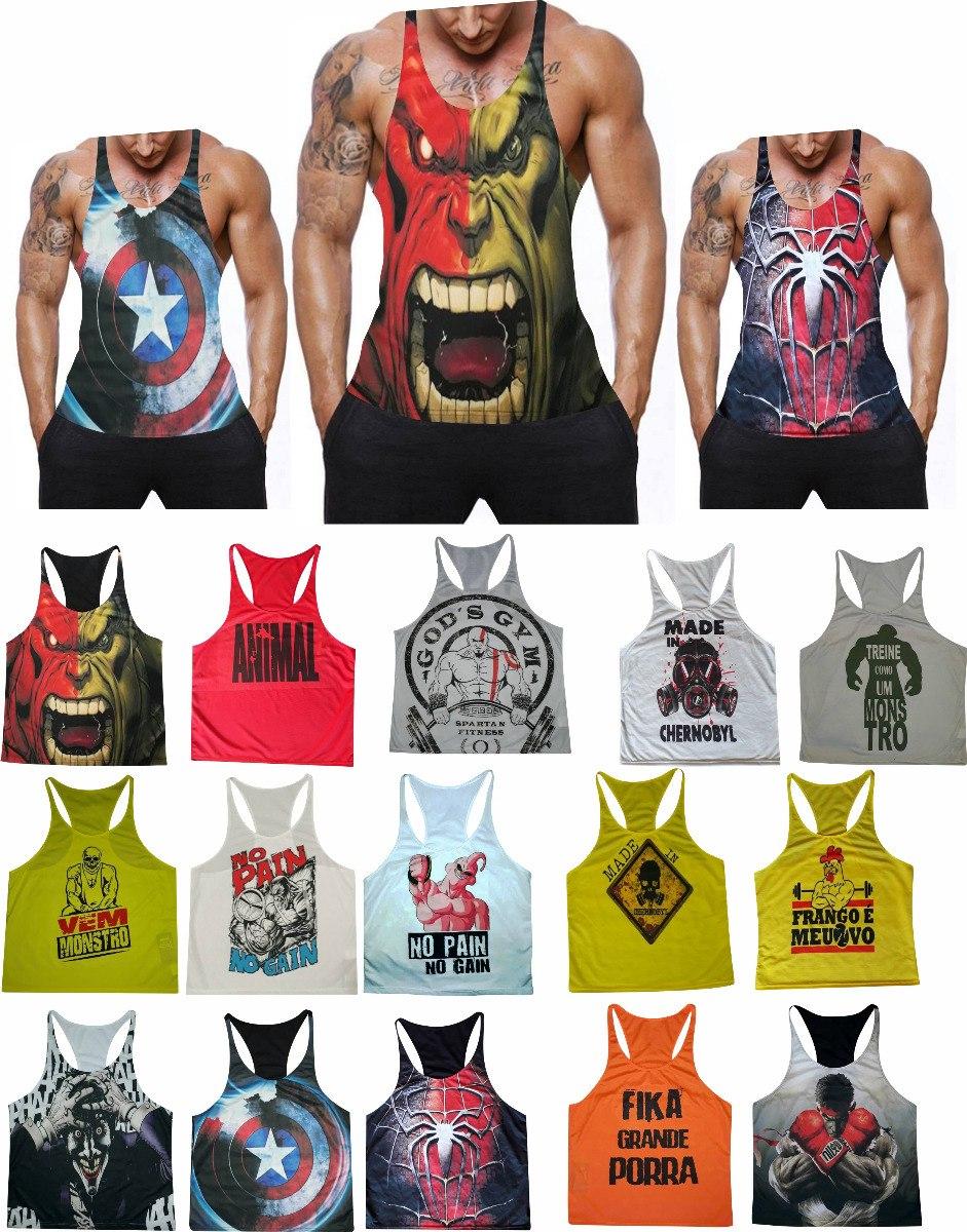 021768419d kit 2 camiseta regata super cavada musculação academia. Carregando zoom.