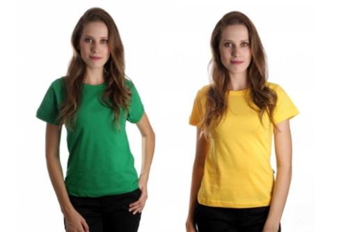 kit 2 camisetas femininas baby look copa do mundo
