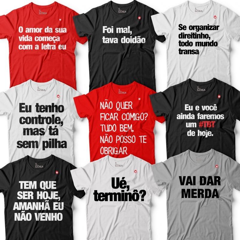 Kit 2 Camisetas Frases Masculinas Camisa Blusa A Sua Escolha