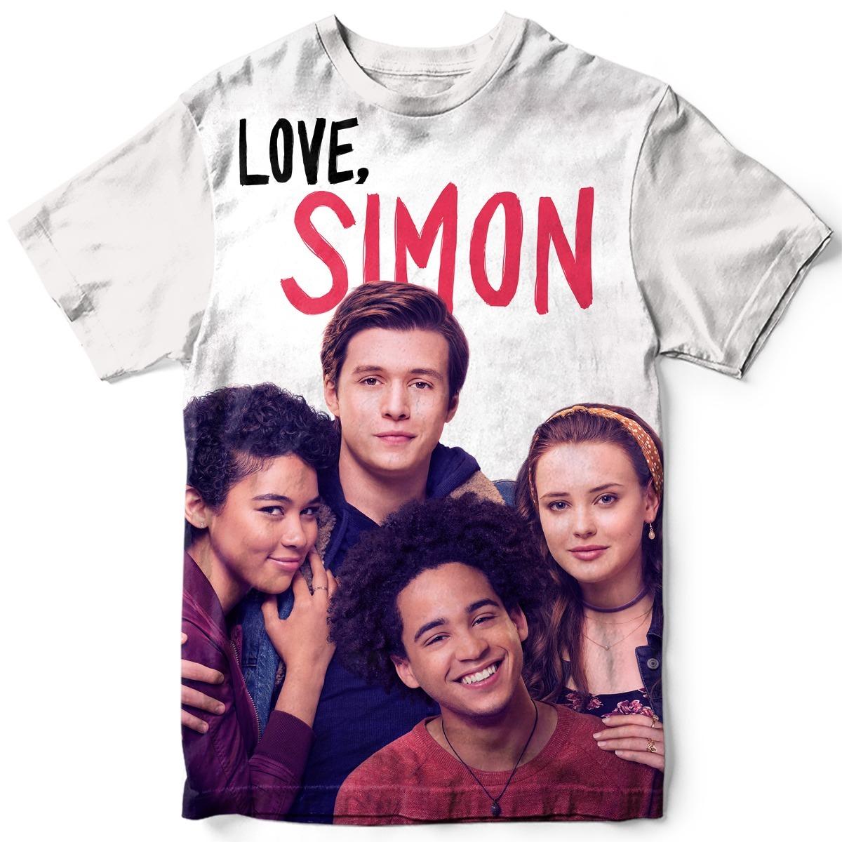 Kit 2 Camisetas Love Simon Livro Filme Lgbt Comédia Romance - R  179 ... 45ba08eaf4785