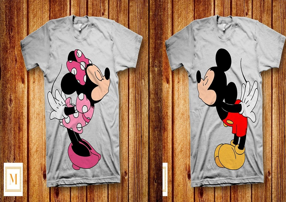 5113e2553441a kit 2 camisetas personalizadas - casal love -mickey e minnie. Carregando  zoom.