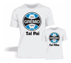 99c095974b56b0 Kit 3 Camisas Camisetas Tal Filho Tal Pai Time Gremio Barato