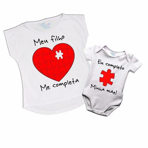kit 2 camisetas tal mãe tal filho meu filh0 me completa verm