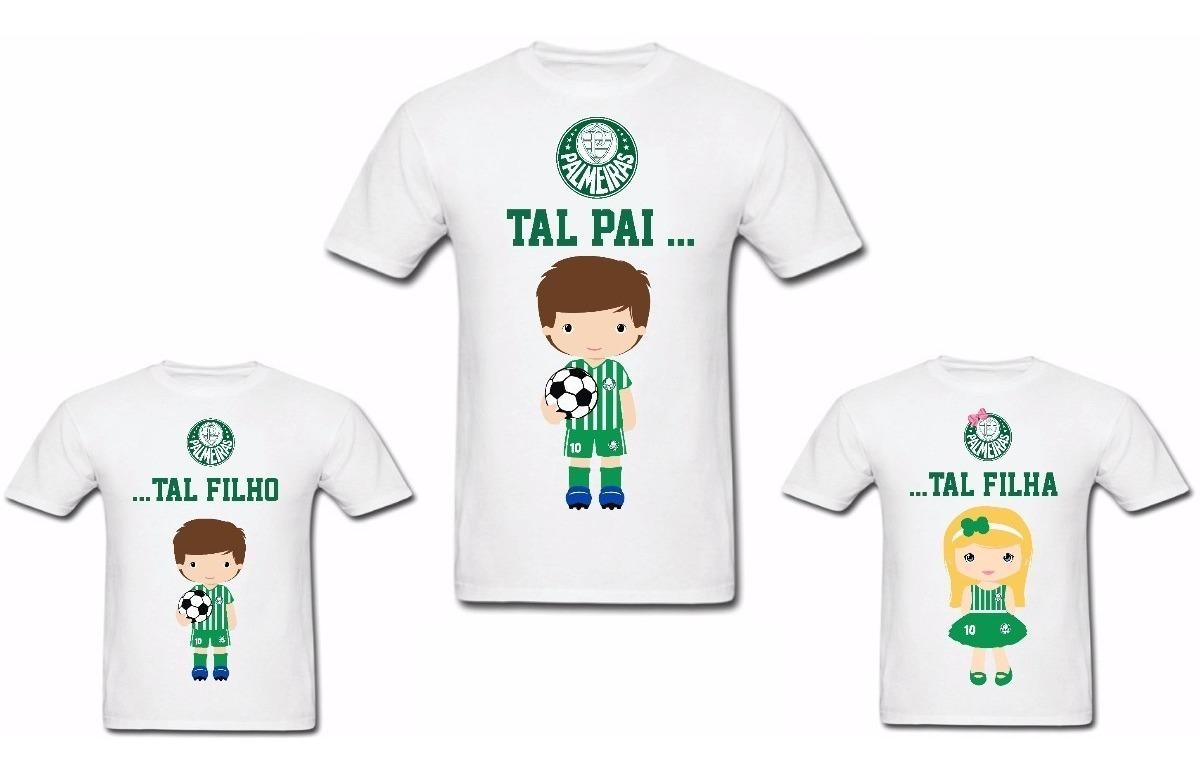 3252bbb4d kit 2 camisetas tal pai tal filho palmeiras time futebol. Carregando zoom.