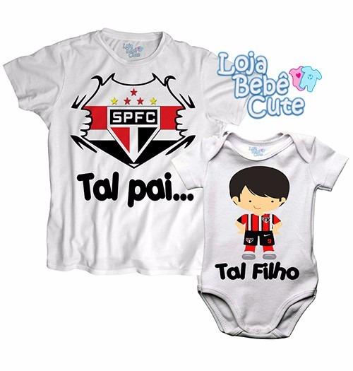 e18a4667cd138 Kit 2 Camisetas Tal Pai Tal Filho São Paulo Qualquer Time - R  59,90 ...