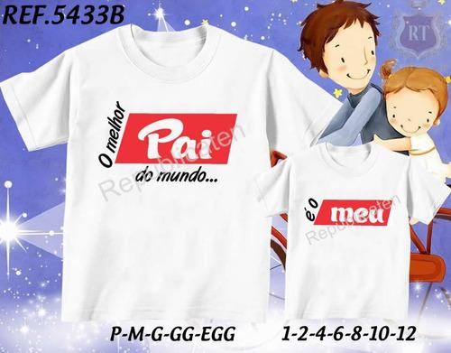 kit 2 camisetas tal pai tal filho(a) eu tenho um super filho
