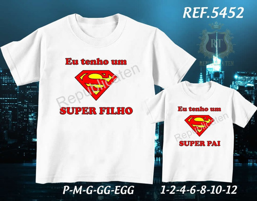kit 2 camisetas tal pai tal filho(a) presente dia dos pais