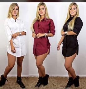 aa4f82c55d Vestido Camisao Decote Ilhos - Calçados