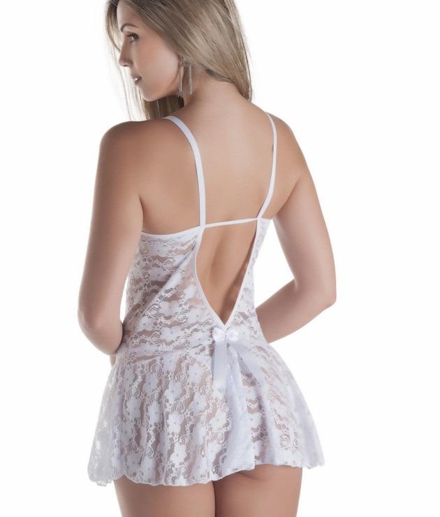 cee6f4d1c Kit 2 Camisolas Renda Sexy -sensual Com Calcinha Para Dormir - R ...