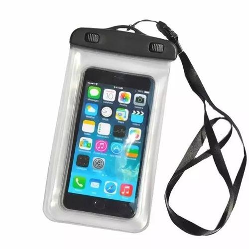 kit 2  capa bolsa para celular a prova dágua impermeável