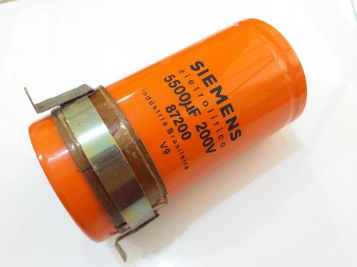 kit 2 capacitor eletrolitico 5500uf 200v siemens 142mm /70mm